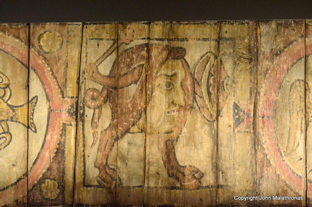 Detail of mediaeval bestiary ceiling  Metz