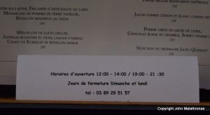 French Opening Hours