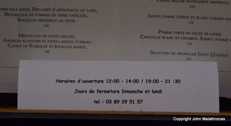French Restaurant Opening Hours