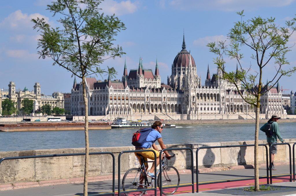 Buda promenade by Bem square