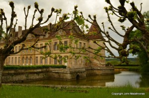 Chateau Missery with the moat