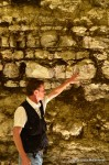 Franck showing the limestone and clay ground of Chablis