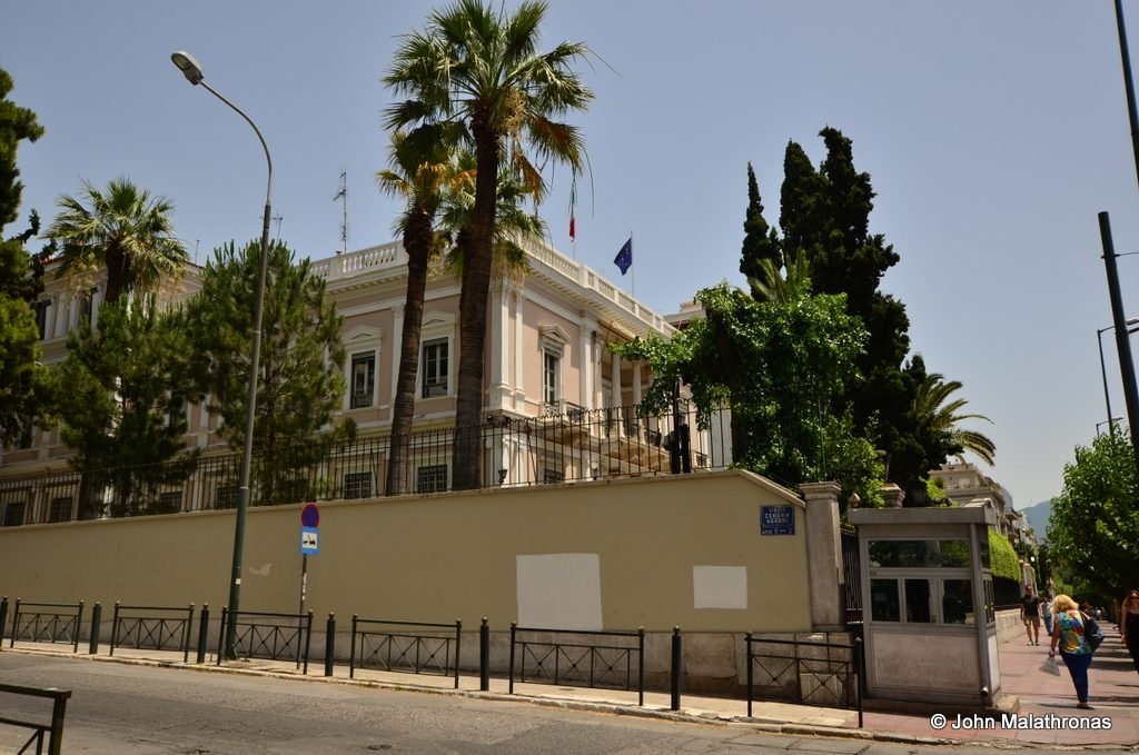 Italian Embassy, Athens, example of eclecticism