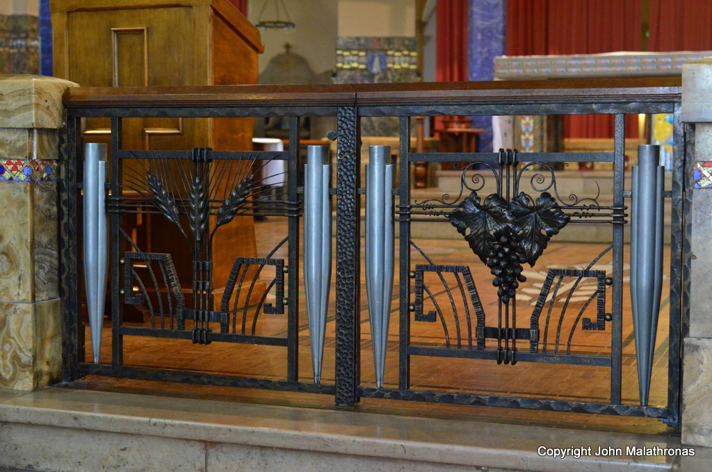 Wrought Iron gate leading to the chancel of Notre-Dame-des-Malades