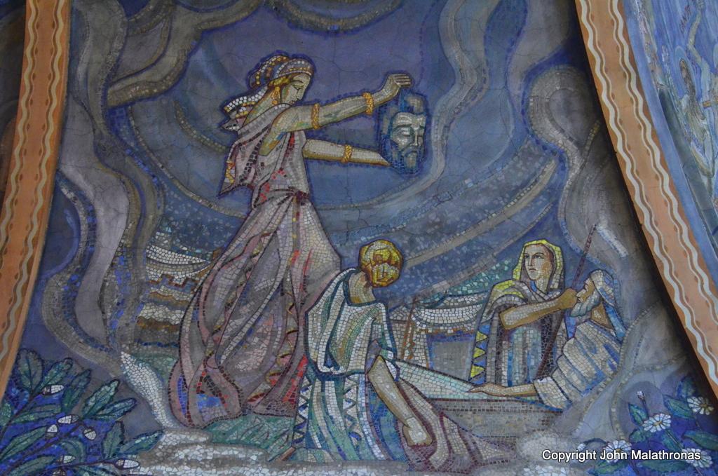 Mosaic, Notre-Dame-des-Malades: Beheading of St John the Baptist