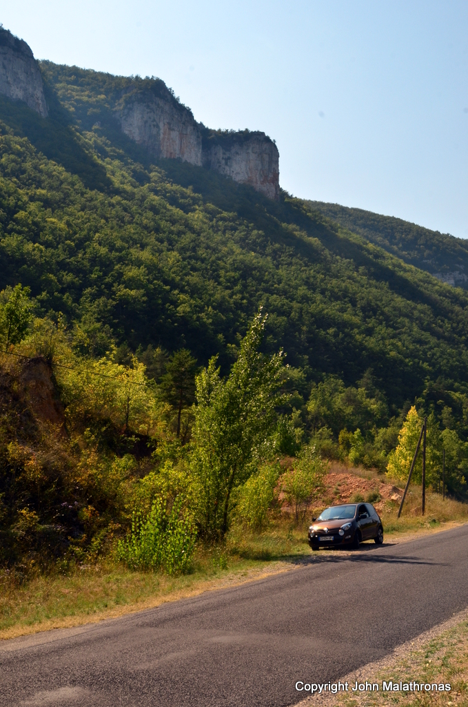 A rented Renault Twingo on a Rough Guides research trip in France