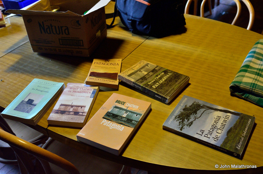 Various editions of Chatwin's In Patagonia