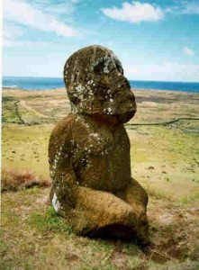 Sitting statue of Easter Island