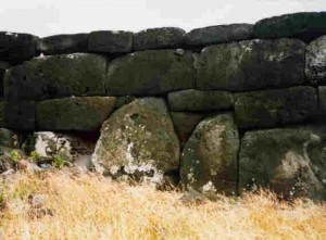 Easter Island wall structures rapa nui