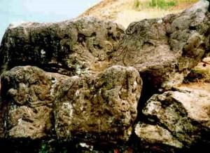 Easter Island petroglyphs rapa nui
