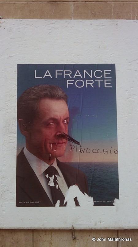 Sarkozy election poster, 2012