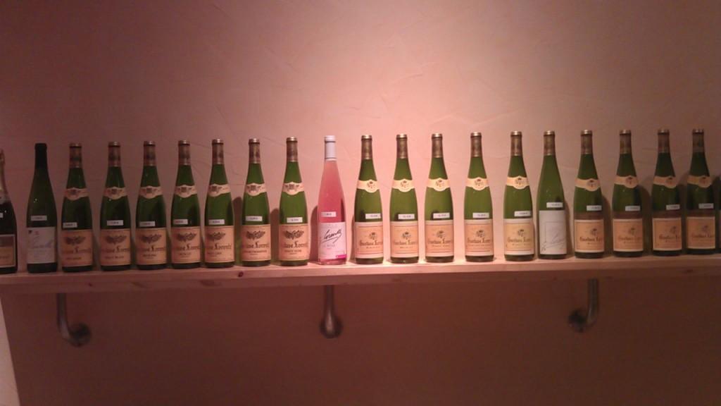 Range of wines at Cave Lorentz