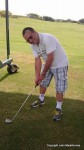 John Malathronas playing golf