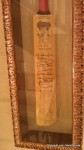 A cricket bat from the 2004 West Indies tour