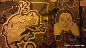 Graffiti in Szimpla Kert, a Budapest ruin pub.