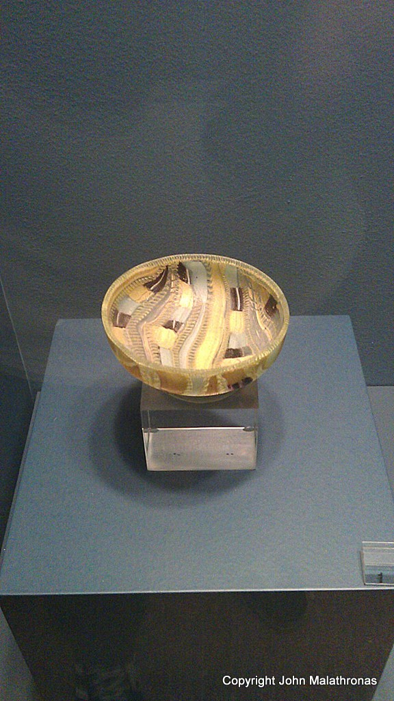 Glass grooved bowl, Antikythera wreck