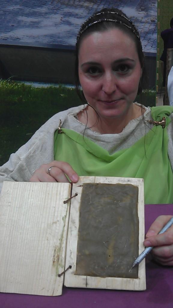 The Slovenian Tourism Office demonstrates a Roman iPad.