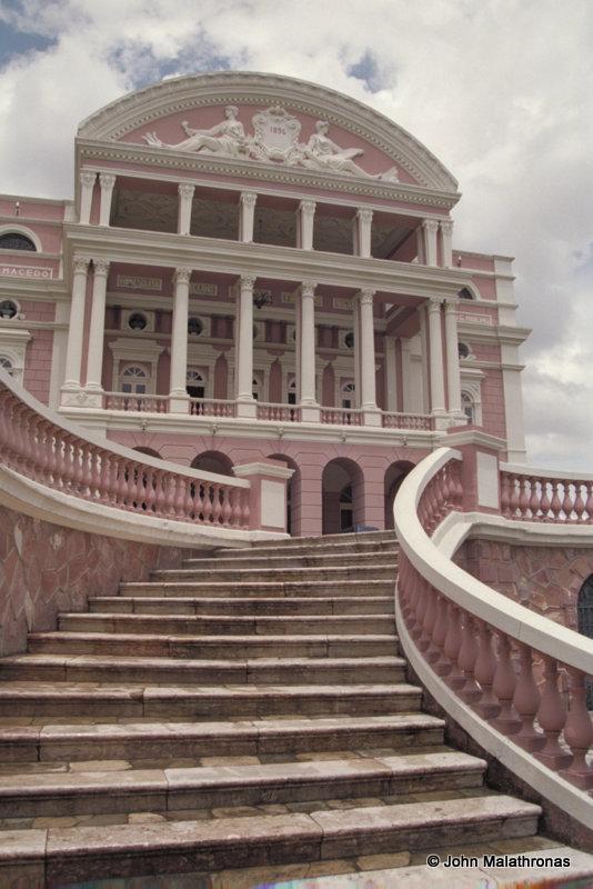 Manaus Opera House - the monumental staircase