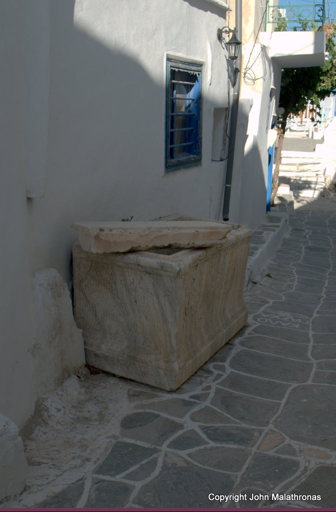 Old sarcophagus, Kastro, Sifnos