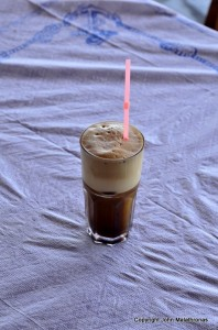 Frappe coffee in Greece