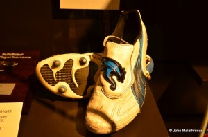 These are the boots worn by Mario Gomez when he scored 4 goals in Bayerns 7-0 win against Basel on 13 March 2012. It was Bayern's biggest-ever win in the Champions League.