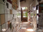 View of the central toilet corridor in Hundertwasser toilet, Kawakawa