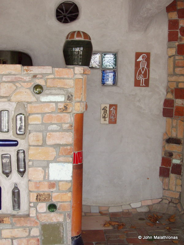 Female entrance to the Hundertwasser toilet