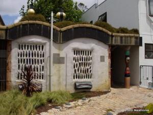 Hundertwasser toilet exterior