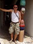 John Malathronas at the Hundertwasser toilet
