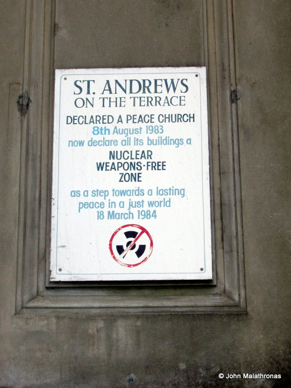 St Andrews Church declares itself a nuclear-free zone in Wellington