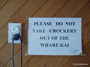 Whare kai sign