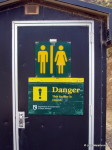 Danger toilet sign Caitlins, New Zealand