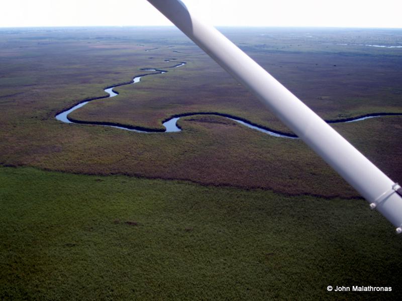 The snaking Okavango river