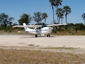 Cessna plane in the Okavango