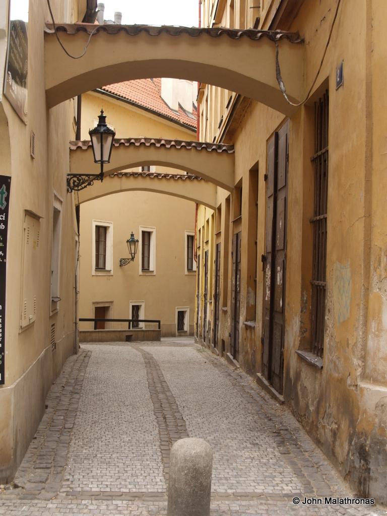 Bartolomejska to Konviktska streets in Prague