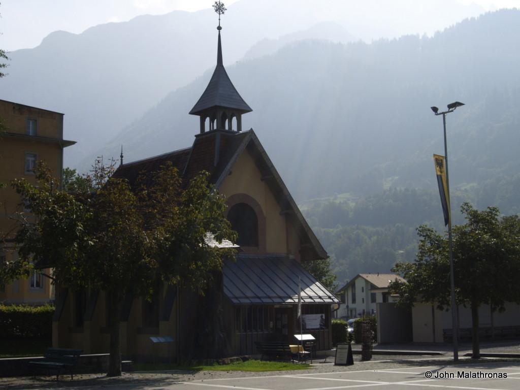 The English Church in Meiringen, now the Sherlock Holmes museum