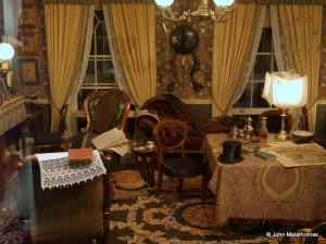 Sherlock Holmes' study reconstruction