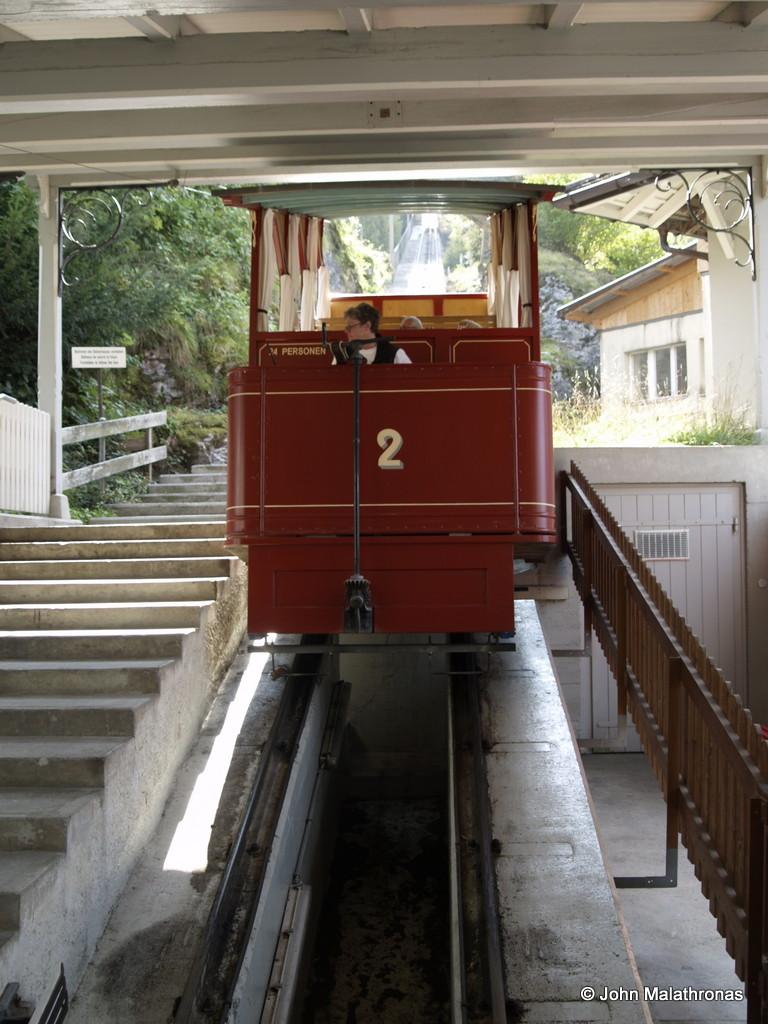Reichenbach falls funicular car