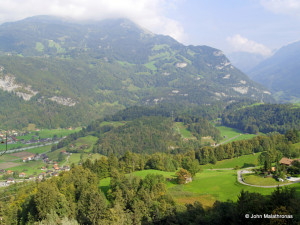 View from the top of Reichenbach falls.