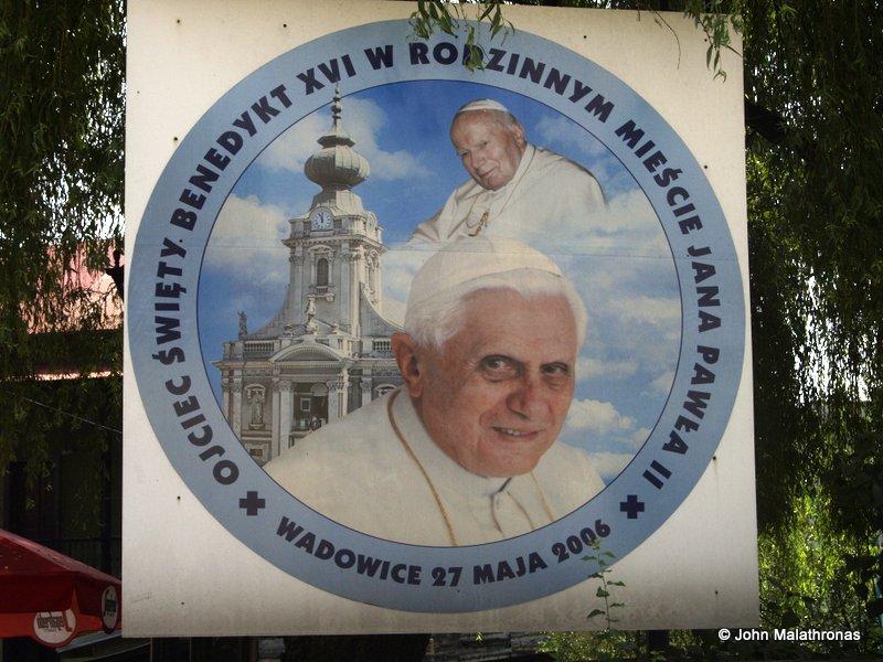 Pope Benedict and John Paul II