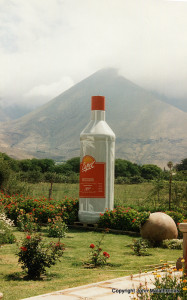 Giant Pisco Bottle at Pisco Elqui, Chile