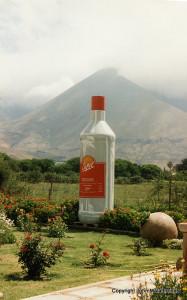 Giant Pisco Bottle at Pisco Elqui, Chile