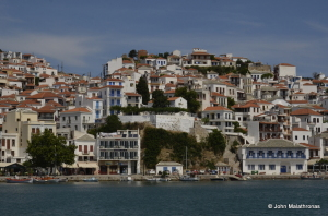 Skopelos Town today.