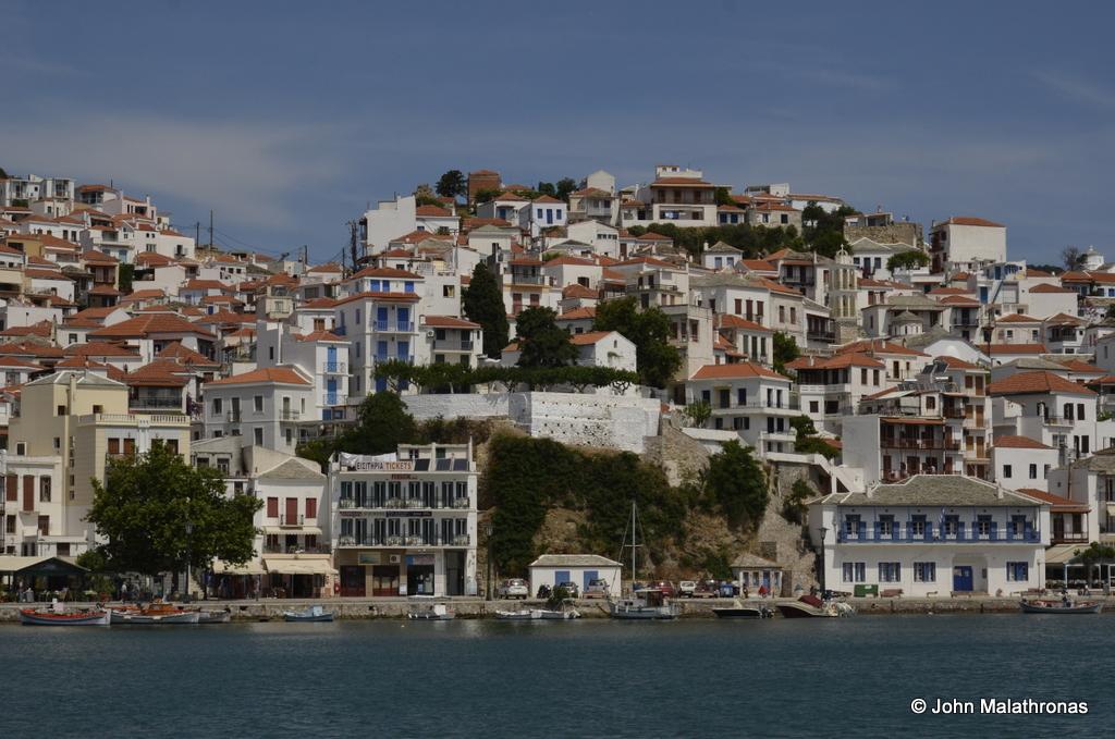 Skopelos Town today.