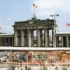 Berlin Wall and Brandenburg Gate seen from the West