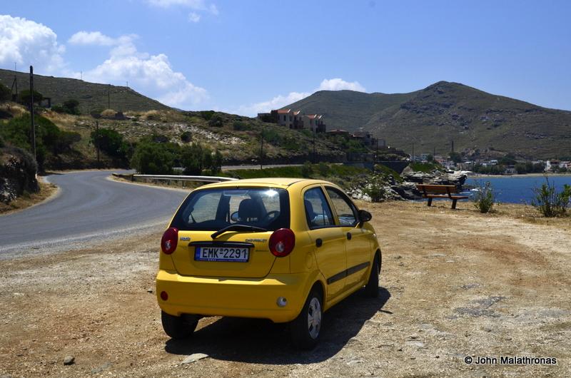 A rental car in Greece