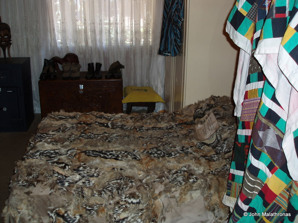 Nelson and Winnie Mandela's bed in Mandela's house Soweto