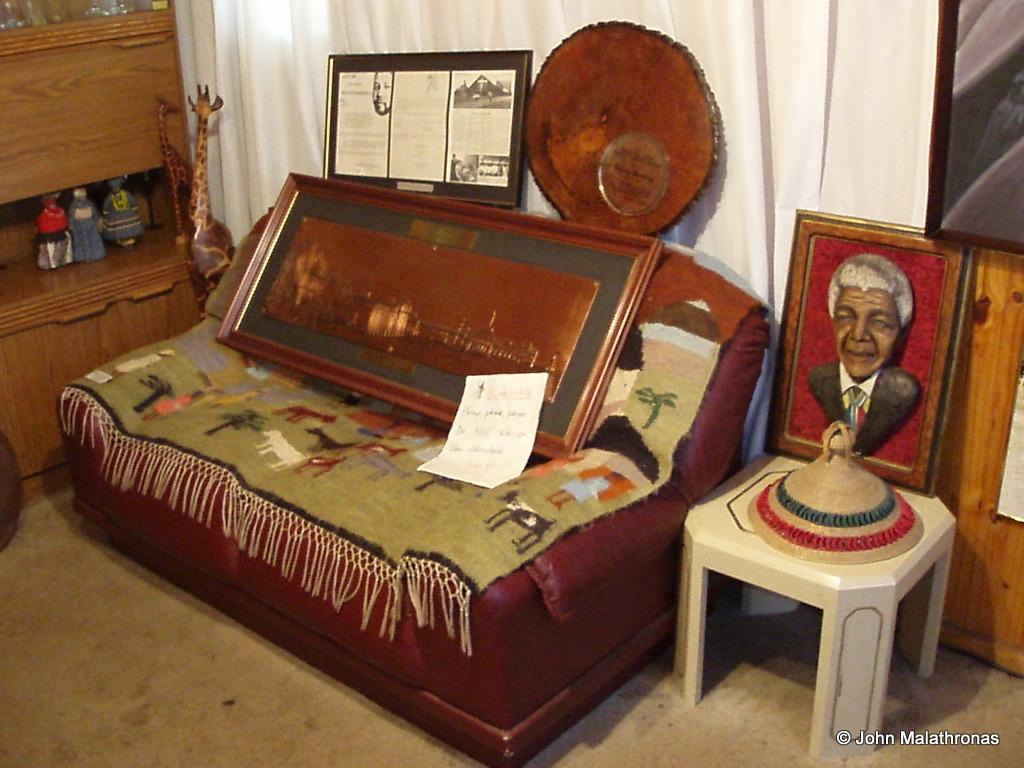 Mandela's sofa in Soweto