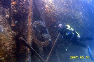 Masonic symbol underwater paraty Brazil